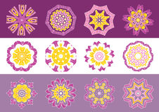 Decorative flowers,vector  Royalty Free Stock Photos