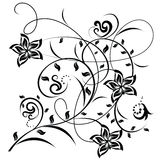 Decorative flowers on white background royalty free illustration