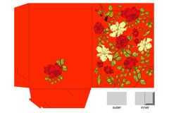 Decorative folder with floral pattern Royalty Free Stock Images