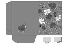 Decorative folder with floral pattern Stock Photos