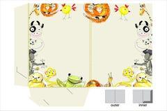 Decorative Folder With Animals Royalty Free Stock Photo