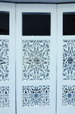 Decorative folding door at Puncak Alam Mosque at Selangor, Malaysia Royalty Free Stock Image
