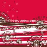 Decorative folk background. Decorative folk graphic background with geometric patterns Stock Photography