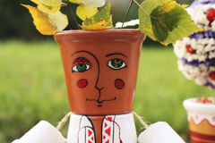 Decorative Folk Man For Garden Decor Royalty Free Stock Photography
