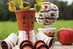 Decorative Folk Man For Garden Decor Stock Photo