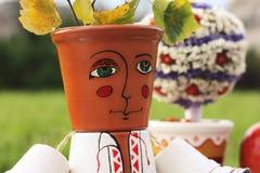 Decorative Folk Man For Garden Decor Royalty Free Stock Photos