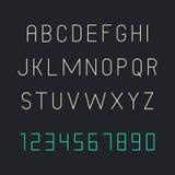 Thin font Stock Image