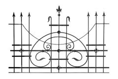 Decorative forged fencing. Stock Photo