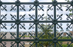 Decorative forging fence closeup Royalty Free Stock Image