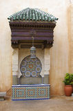 Decorative fountain. Decorative Middle Eastern tile fountain royalty free stock photo