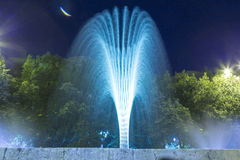 Decorative fountain. In Bucharest, Romania. Night view Royalty Free Stock Images
