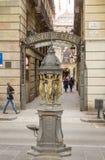 Decorative fountain in La Rambla street, Barcelona Stock Photo