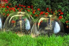 Decorative fountains Royalty Free Stock Images