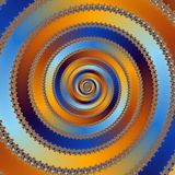 Decorative fractal rainbow spiral. Background Royalty Free Stock Photos