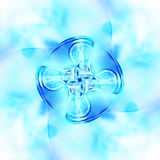 Decorative fractal wallpaper - intricate patterns of blue light. Background Stock Photography