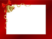 Decorative frame. Gold bells decorative frame. Red ornamental christmas frame. Vector illustration Royalty Free Stock Photo