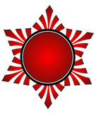 Decorative frame. Decorative red frame in white background eps Stock Photos