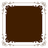 Decorative frame. Retro decorative frame, Use of Adobe Illustrator Software Design.Increased by Adobe Illustrator EPS Vector Format Stock Image