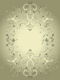 Decorative frame. Ornamental vintage frame with grunge effect Royalty Free Stock Images