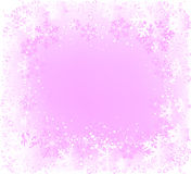 Decorative frame. With lots of snowflakes, ideal for christmas cards Royalty Free Stock Images