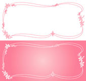 Decorative frame. Set of floral decoration.  Vector illustration Stock Photography