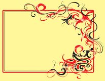 Decorative frame. With abstract elements Royalty Free Stock Images