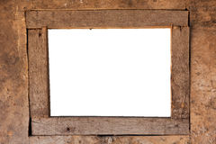 Decorative frame. Decorative old wooden rectangle frame Royalty Free Stock Photo