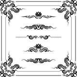 Decorative frame. Vector set of decorative horizontal elements, border and frame Stock Photo