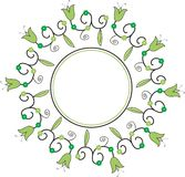 Decorative frame. Spring decorative frame with flowers Stock Illustration