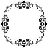 Decorative frame. Square frame with floral decoration Royalty Free Stock Photos