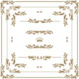 Decorative frame. Vector set of decorative horizontal elements, border and frame.  Page decoration Stock Photography
