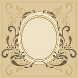Decorative frame. Gold decorative frame, vector illustration Royalty Free Stock Image