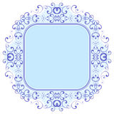 Decorative frame. Retro decorative frame, vector illustration Royalty Free Stock Images