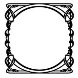 Decorative frame with art Nouveau ornament Stock Photos