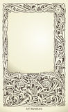 Decorative frame in art nouveau style. Detailed render. Lots of useful elements to embellish your layout Royalty Free Stock Image