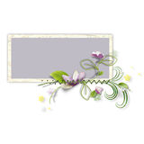 Decorative frame with artificial paper flower Stock Photos