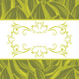 Decorative frame on the background with a leaves Royalty Free Stock Image
