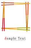 Decorative frame of bamboo chopsticks Stock Image