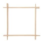 Decorative frame of bamboo chopsticks Royalty Free Stock Photo