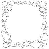 Decorative frame border with bubbles Royalty Free Stock Photography