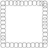 Decorative frame border with circle chords Royalty Free Stock Image