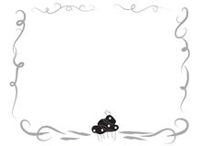 Decorative frame border with a cupcake Stock Photo