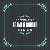 Decorative frame, border with Ornamental Line style stock illustration