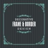 Decorative frame, border with Ornamental Line style vector illustration