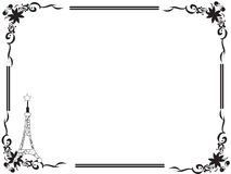 Decorative frame border with a tower and a star. Hand drawn frame border with a tower and a star for your photos or texts Stock Photography