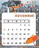 Decorative Frame for calendar - November Royalty Free Stock Photography