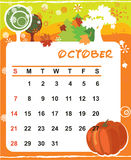 Decorative Frame for calendar - October Royalty Free Stock Images