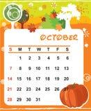 Decorative Frame for calendar - October Royalty Free Stock Images