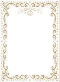 Decorative frame with Christmas symbols Royalty Free Stock Photo