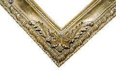 Decorative Frame/ Corner. The corner of an elaborately carved frame Stock Photo